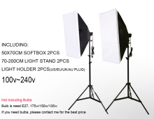 DHL Free shipping single lamp softbox photo light softbox set photographic equipment Photo Studio light stand kit tripod kit