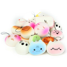 20Pcs Decoration Beautiful Jumbo Medium Mini Mobile Phone Straps Random Soft Panda/Bread/Cake/Buns Cute Cool Boy Girl Gift