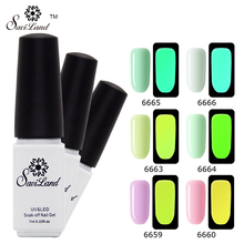 Saviland 1pcs Fluorescent Neon Luminous Gel Nail Polish Glow In The Dark Light Esmalte Soak Off Nail Art Gel Varnish