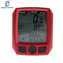 Waterproof Multifunctional Bicycle Speedometer Odometer LCD Backlit Cycling Computer Bike Speedometer(China)