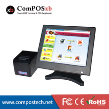 Factory 15 Inch Touch POS Computer With 80mm Thermal Receipt Printer Touch Cash Register Restaurant POS System