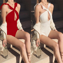 One Piece Swimsuit 2018 Swimwear Women Cross Bandage Ruffle Beachwear Bathing Suit Push-up Swimming suit Solid Bather Monokini