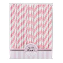 30pcs Striped Paper Straws Drinking Straws For Wedding Party Birthday Halloween Christmas Decoration