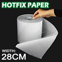 28CM wide Hot fix paper tape iron on heat transfer film super adhesive quality to DIY HotFix rhinestone crystal on garment tools