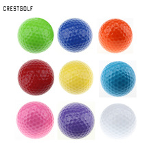 CRESTGOLF 6pcs Per pack Assorted Color Mini Golf Balls Colorful Golf Practice Balls Training Golf Pelotas(China)