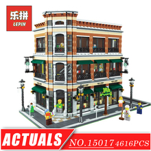 LEPIN 15017 City Genuine Creative Series Bookstore Cafe Large House Model Building Blocks Bricks Set DIY Toys Children Gift - LepinBlock Store store