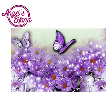 New 5D Sailing Hot DIY Diamond Butterfly Embroidery Mosaic Painting Drill Round Full Rhinestone Decoration Fashion Design Gift(China)