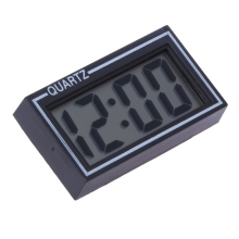 Mini Digital LCD Auto Car Truck Clock Dashboard Date Time Calendar Clock 5.50*3.00*1.00cm Car Practical Black Clock Ornament
