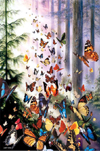 New mosaic full laid diamond embroidery painting Dream butterfly in woods beads cross stitch kit wedding handwork