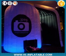 Top quality party / event use items white digital inflatable photo booth with led lights