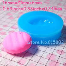 Free Shipping GYL015U Oval Cake / Cupcake Tart / Bottom Mold Silicone Mold 21mm - Bakeware Candle Air Dry Polymer Clay Mould