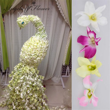 50pcs/lot Small ocean petal silk cattleya flower wedding decoration Accessories Headdress Window DIY orchid flowers petals