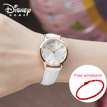 Disney Women Watches Luxury Leather Mickey Mouse Casual&Fashion Brand 2017 Dress Quartz Wristwatches Women Ladies Watch Genuine