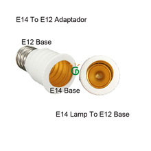 Factory Outlet Adaptator E12 E14 LED Bulb Base 4PCS/lot Free Shipping Via China Post Odinary Small Package Plus(China)