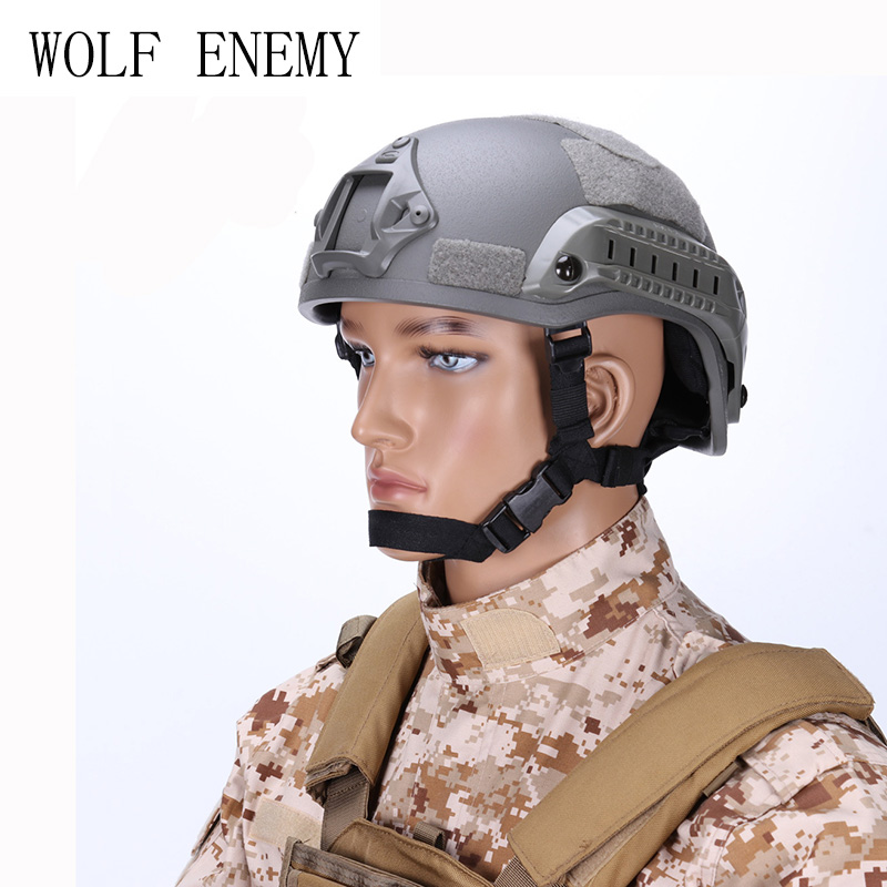 Tactical Airsoft Paintball Helmet MICH 2001 Action Version Helmet with NVG Mount and Side Rails<br>