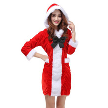 2017 Best Sale Women Sexy Santa Christmas Costume Fancy Dress Xmas Office Party Outfit wonder woman red dress vestido de festa(China)