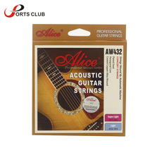 Alice AW432 Guitar Strings Six Strings Coated Steel Set Anti-rust Light for Acoustic Guitar New Arrival