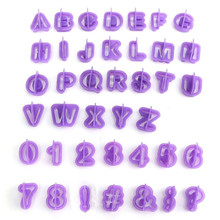 New Creative Math 40pcs Alphabet Letter Number Fondant Cake Decorating Set Icing Cutter Mold Mould