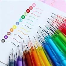 Stationery Diamond Nib Colorful Gel-ink Pens / 12 Candy Colors For Your Choice Gel Pen School Office Supplier 24pcs/lot Arc105