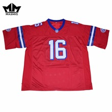 MM MASMIG The Replacements Movie Shane Falco 16 American Football Jersey Red For Free Shipping(China)