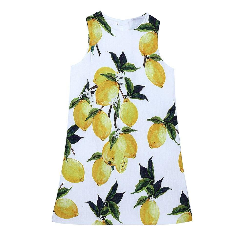 Baby Girls Lemon Dress Kids Summer Party Dress Clothes Girls Dress Fashion 2016<br><br>Aliexpress