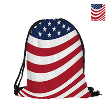 Star-Spangled Banner Drawstring Backpack For Beach School Shopping Women Men Pouch Backpack Shoulder Bag Polyster Backpack(China)