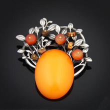High Quality Nature Stone Large Brooches for Women Vintage Fashion Metal Brooch Pins Corsage Unique Design Jewelry Gifts XZ379(China)