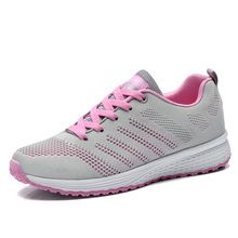 New Women's Breathable Mesh Running Shoes Lace Up Lightweight Walking Sports Sneakers EU Size 36-40(China)