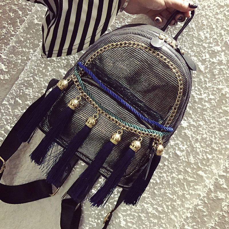 2017 Kavard Backpack tassel Chains Women Backpack School Bag Mochila Escola Student Backpack Ladies Women Bags Package Rucksack<br><br>Aliexpress