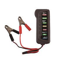 Portable 12V Digital Battery Alternator Tester 6 LED Lights Display Car Vehicle Battery Diagnostic Tool Clamp type detector