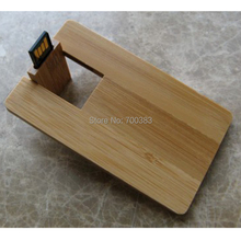 5 PCS USB2.0 No logo Business wood card USB Memory Stick The wooden Card Capacity Enough U Disk USB Flash Disk USB Flash Drive