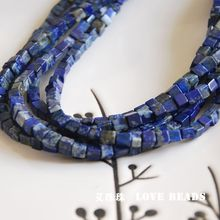 natural lapis lazuli cubes loose beads bracelet necklace earrings making jewelry craft findings