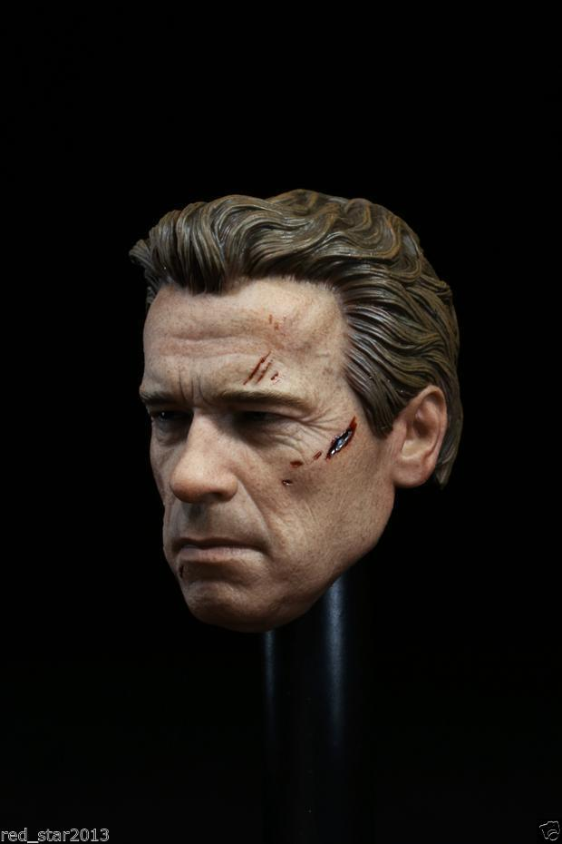 Scarred Face1/6 Scale Male Head Sculpts Arnold Schwarzenegger Battle Damage Head Carving Model Toys F 12 Figures Body Accessory<br><br>Aliexpress