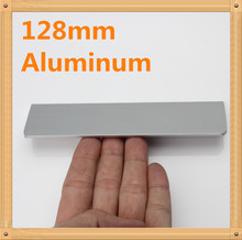 "Length 138mm Hole C:C: 128mm 5.04"" Aluminum alloy handle Straight bevel modern handle Kitchen door handles drawer pull"