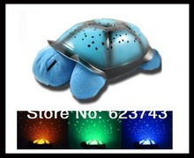 Free shipping 5PCS WITHOUT RETAIL BOX Turtle Night Light Stars Constellation Lamp Children Music Lights Mini Projector 4 Songs