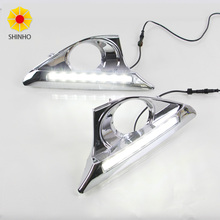 White Yellow 8led Car LED Daytime Running Light DRL Daylight Fog Lamp Headlight Kit For Toyota Camry 2011 2012 2013 2014(China)