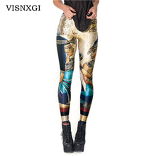 Fashion Sexy Hot Sale New Novelty 3D Printed Fashion Women Leggings Space Galaxy Leggins Tie Dye Fitness Black Milk Pant K133(China)