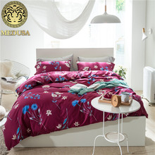Luxury 60S egyptian cotton shabby chic village Bedding set doona/duvet cover flat sheet pillow case 4pcs/king/queen size