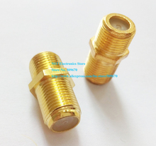 Golden Plated F Female to Female Coaxial RG6 Barrel Coax Cable Connector Coupler Adapter/Free Shipping/10PCS