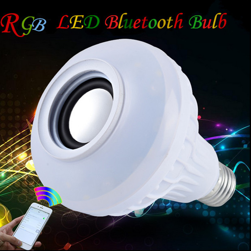 RAYWAY High Quality LED RGB Bluetooth speaker 6W E27 LED Bulb Novelty Lamp RGB Built Music play with 24 remote controller <br><br>Aliexpress