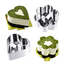 4 Style Nice Stainless Steel Mousse Cake Ring Layer Slicer Cook Cutter Bake Cake Decorating Pastry Accessories Tools MS057(China)