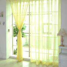 Colorful KitchenTulle Curtains Translucidus Rulonnaya Curtain Modern Home Window Decoration Sheer Voile Curtains For Living Room(China)