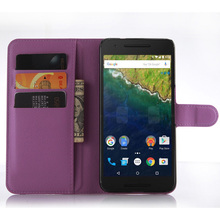 New 2016 For Huawei google Nexus 6P case cover,fashion luxury filp Lychee leather wallet stand phone case cover cell phones 6P(China)