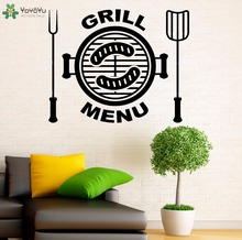 YOYOYU Wall Decal Grill Menu Kitchen Wall Stickers Home Decoration Accessories Vinyl Design Interior Kids Art Decor Mural SY962(China)