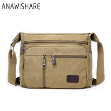 ANAWISHARE Vintage Men Messenger Bags Canvas Crossbody Bags For Men Shoulder Bags Business Men Handbags High Quality Yt66(China)