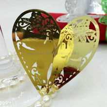 100pcs Napkin Heart-shaped Ring Serviette Paper Holder Party Birthday Wedding Banquet Dinner Table Decoration Towel Buckle 7Z