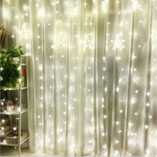 Factory Sales AC220V 1x2M LED icicle Curtain String Fairy Light Xmas Christmas Wedding Decoration home Garden party Garland