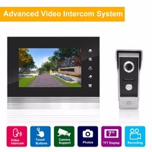 "SavvyPixel 7"" TFT 1200TVL Door Monitor Video Intercom Home Door Phone Recorder System SD/TF Card Supported Waterproof Rain Cover(China)"