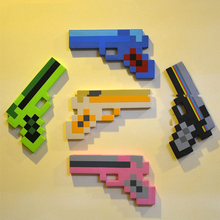 5pcs/lot Minecraft Foam Gun Toys Minecraft Game Weapons Sword Gun EVA Toys Action Figure Model Toy Brinquedos Gifts for Kids Fun
