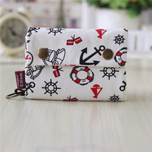 Canvas cartoon printing women wallet ladies key bag card bags female pouch carteira bolsa feminina bolso mujer for kids girls(China)